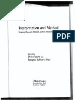 Chapter 11- Oren- Interpretation and Method