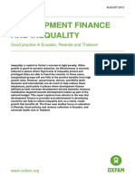 Development Finance and Inequality