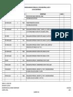 11-16015-600 Lista de Materiales