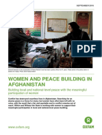 Women and Peace Building in Afghanistan