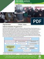 Citizen Voice in Afghanistan