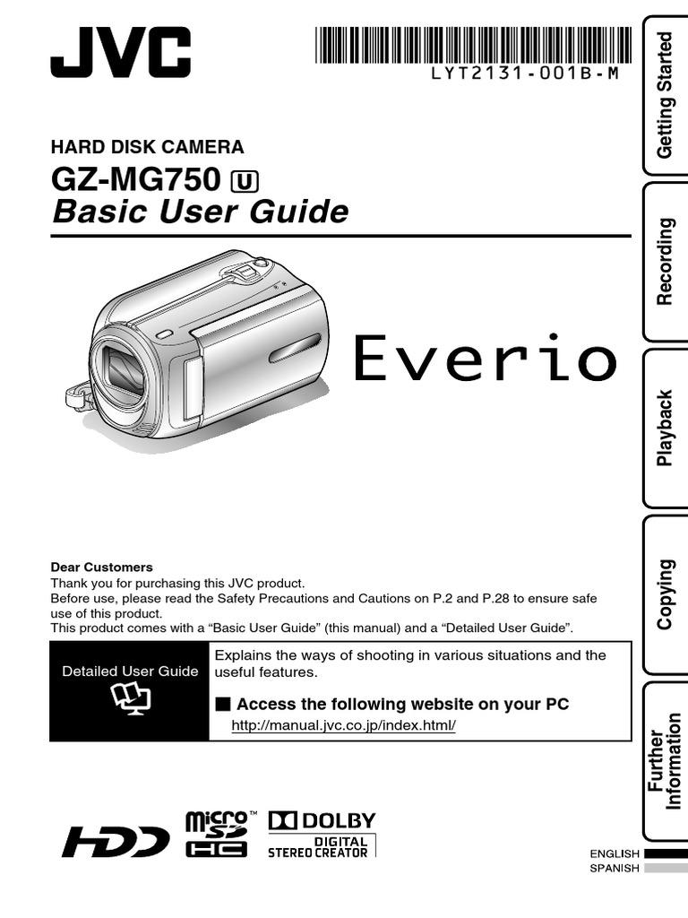 Jvc Everio Hd Camcorder Gz Mg750bu