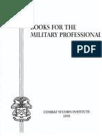 Books for the Military Professional_CSI (1995)