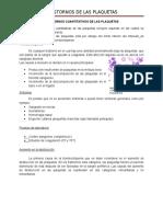 Trastornos de Las Plaquetas Investigacion Docx