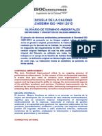 Glosario de términos ambientales - Standard ISO 14001