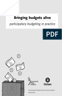 Bringing Budgets Alive: Participatory budgeting in practice