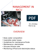 Fluid Management in Nicu