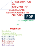 Electrolyte Abnormalities in Children Ramanai