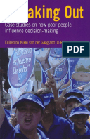 Speaking Out: Case studies on how poor people influence decision-making