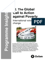 The Global Call to Action against Poverty