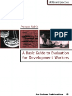 A Basic Guide to Evaluation for Development Workers