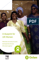 A Blueprint for UN Women: What does civil society at country level expect from the new UN women's agency?