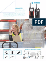 Push-To-talk Over CellularWi-Fi Cm632