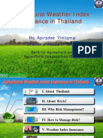 Agricultural Weather Index Insurance in Thailand
