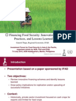 Financing Food Security