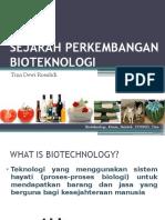 Sejarah Perkembangan Bioteknologi Ok