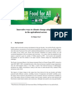 Innovative ways to climate change adaptation in the agricultural sectors
