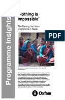 Nothing is Impossible: The Raising Her Voice programme in Nepal