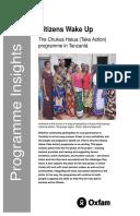 Citizens Wake Up: The Chukua Hatua (Take Action) programme in Tanzania