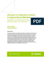 Women's Collective Action in Agricultural Markets