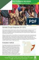 Effectiveness Review: Somalia Drought Response 2011/12