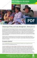 Effectiveness Review: Influencing of Policy and Public Management, Bolivia