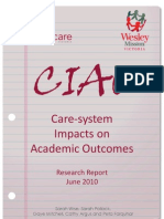 Care-system Impacts on Academic Outcomes