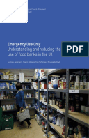 Emergency Use Only: Understanding and reducing the use of food banks in the UK