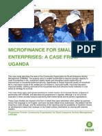 Microfinance for Small Enterprises