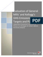 Evaluation of General Mills' and Kellogg's GHG Emissions Targets and Plans