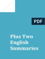 Plus Two Kerala Syllabus English Notes & Summaries