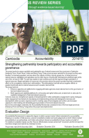 Accountability Review in Cambodia: Strengthening partnership towards participatory and accountable governance