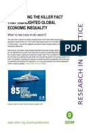 Researching the Killer Fact That Highlighted Global Economic Inequality