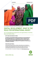 Digital Development: What is the role of international NGOs? ICT for Development programmes and opportunities in the Horn, East and Central Africa