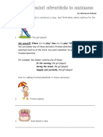 Adding Adverbials to Sentences Worksheet1
