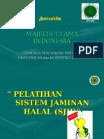 Pelatihan Sistem Jaminan Halal Lppom
