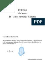 EGR280 Mechanics 15 MassMoments