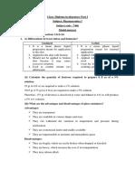 Model Answer - D.pharm Part 1 - Pharmaceutics 1