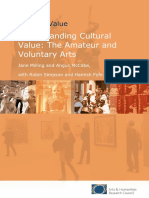 AHRC Cultural Value Amateur and Voluntary Arts
