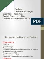 Tema 1- Sistemas de Base de Dados
