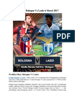 Prediksi Bologna vs Lazio 6 Maret 2017