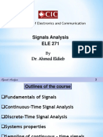 Signal Analysis - Lecture 1