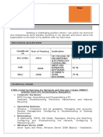 Networking Resumes Format