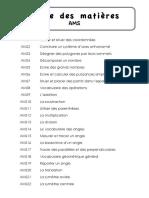 Aide-mémoire de Mathématiques (CM2)