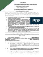 Scribe Declaration Form