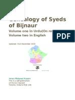 Genealogy of the Syeds of Bijnaur