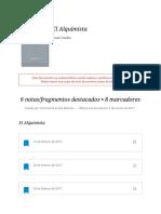 """Notas de """" El Alquimista """""""