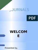 POWERPOINT PRESENTATION ON JOURNALS