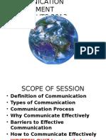 Communication Management - Scouts Apr 2013-Dr. George