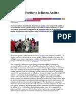 Feminismo Paritario Indígena Andino
